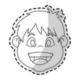 Изолированный дизайн мальчика Стоковое Изображение RF