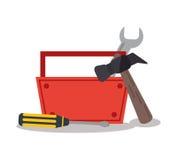 Изолированный дизайн набора инструментов бесплатная иллюстрация