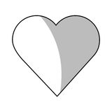 Изолированный дизайн сердца иллюстрация штока