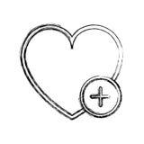 Изолированный дизайн сердца бесплатная иллюстрация