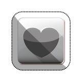 Изолированный дизайн сердца иллюстрация вектора