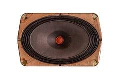 Изолированный диктор старой винтажной музыки динамический Стоковое фото RF