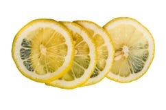изолированный лимон отрезает белизну Стоковое Фото