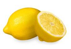 изолированный лимон Стоковые Изображения