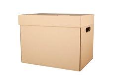 изолированный картон коробки затеняет белизну Стоковая Фотография