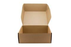 изолированный картон коробки затеняет белизну Стоковое Фото