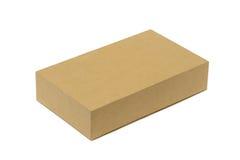 изолированный картон коробки затеняет белизну Стоковое Изображение
