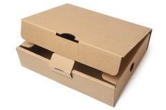 изолированный картон коробки затеняет белизну стоковые фотографии rf