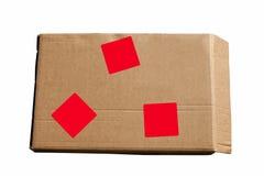 изолированный картон коробки затеняет белизну Стоковые Изображения RF