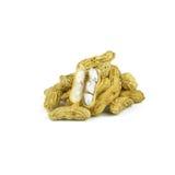 Изолированный кипеть или испаренные свежие арахисы на белой предпосылке Стоковые Изображения