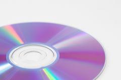 Изолированный КОМПАКТНЫЙ ДИСК или DVD Стоковые Фото