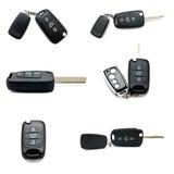 Изолированный комплект ключей автомобиля Стоковое Изображение RF