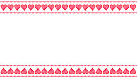 Изолированный комплект руки покрасил сердца акварели для карточки дня ` s валентинки или романтичной карточки С космосом экземпля Стоковое Изображение RF