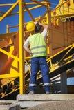 изолированный конструкцией славный работник обмундирования Стоковая Фотография