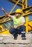 изолированный конструкцией славный работник обмундирования Стоковое Изображение