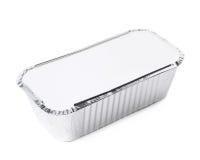 Изолированный контейнер поставки еды фольги Стоковое Фото