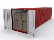 Изолированный контейнер для перевозок бесплатная иллюстрация