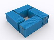 Изолированный контейнер для перевозок иллюстрация вектора
