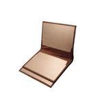 Изолированный коричневый бумажник Стоковые Изображения