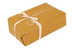 Изолированный коричневый цвет пакета Стоковое фото RF