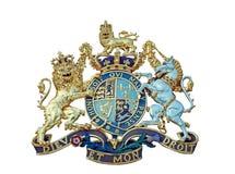 Изолированный королевский герб Стоковое Изображение RF