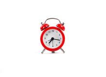 Изолированный красный будильник Стоковая Фотография RF