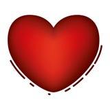 Изолированный красный дизайн сердца иллюстрация вектора