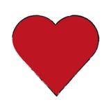 Изолированный красный дизайн сердца иллюстрация штока