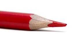 изолированный красный цвет карандаша Стоковое Фото