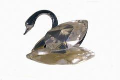 Изолированный кристаллический лебедь Стоковые Фото