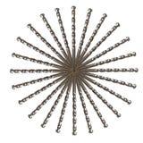 Изолированный круг бурового наконечника Стоковая Фотография