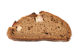 Изолированный кусок хлеба куска Стоковые Изображения RF
