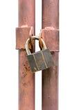 Изолированный ключ замка Стоковые Фото