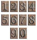 изолированный металл нумерует тип Стоковые Изображения RF