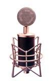 Изолированный микрофон конденсатора стоковая фотография rf