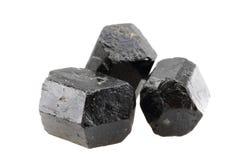 Изолированный минерал Schorl Стоковое Фото