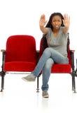 Изолированный моделью знак стопа с рукой Стоковая Фотография