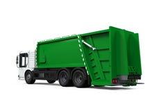 Изолированный мусоровоз Стоковое Фото