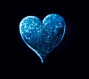 Изолированный на черном сердце Bokeh стоковое фото