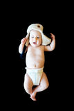 Изолированный невиновный младенец Стоковое Изображение RF