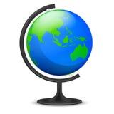 Изолированный объект глобуса образования Азии Стоковые Изображения