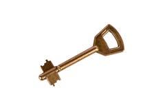 Изолированный домашний ключ Стоковые Фото