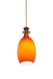 Изолированный оранжевый фонарик на белой предпосылке Стоковая Фотография