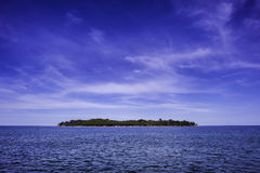 изолированный остров Стоковое Изображение RF