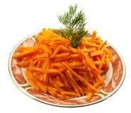 изолированный отрезок морковей Стоковое Изображение RF