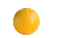 Изолированный одиночный апельсин с путем клиппирования Стоковые Фото