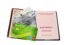 Изолированный пасспорт Sberbank карточки Стоковое Изображение RF