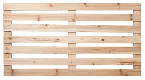 изолированный паллет представляет белое деревянное Стоковое Изображение