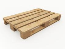 изолированный паллет представляет белое деревянное Стоковые Изображения