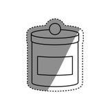 Изолированный пищевой контейнер Стоковые Фото